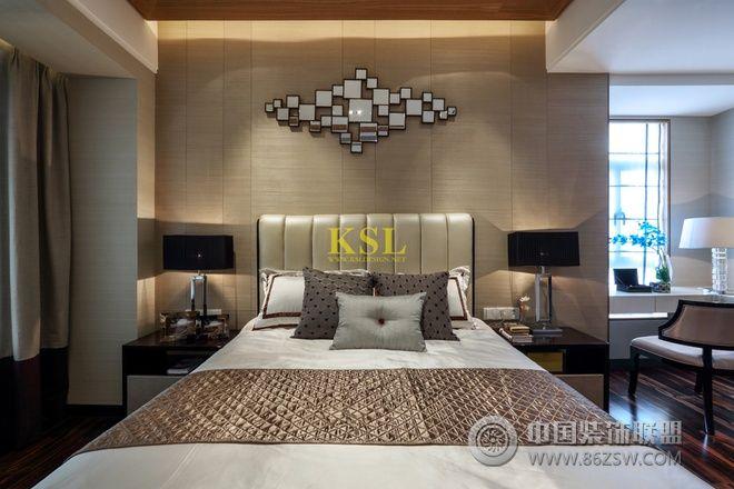 惠州央筑花园洋房样板房中式卧室装修图片