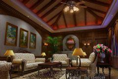 别墅装修|中式别墅装潢设计|东方晨光装饰|观塘别墅装修中式风格大户型