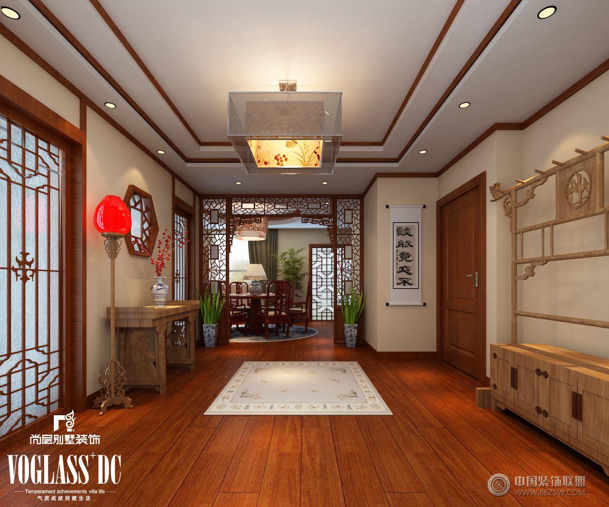 成都尚层装饰别墅装修新中式风格案例(五)-客厅装修图片