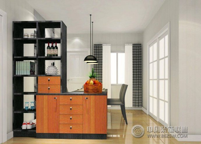 創意的收納式玄關設計-陽臺裝修效果圖-八六裝飾網