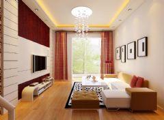 水榭花都现代风格三居室