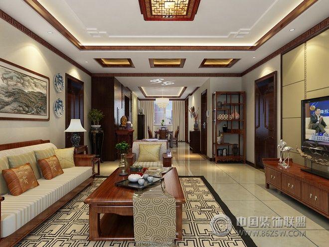 136平新中式精美公寓 餐厅装修效果图 -136平新中式精美公寓 餐厅装