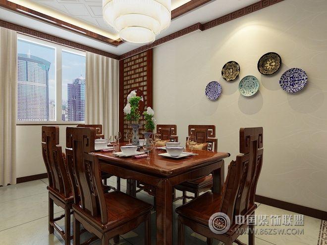 案例:136平新中式精美公寓 类型:家装风格:中式风格 空间:餐厅图片