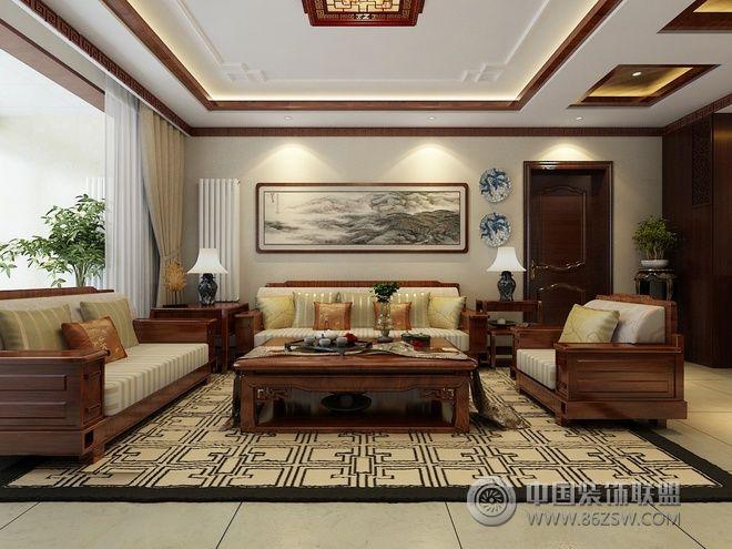 136平新中式精美公寓-中式风格装修效果图-八六装饰网