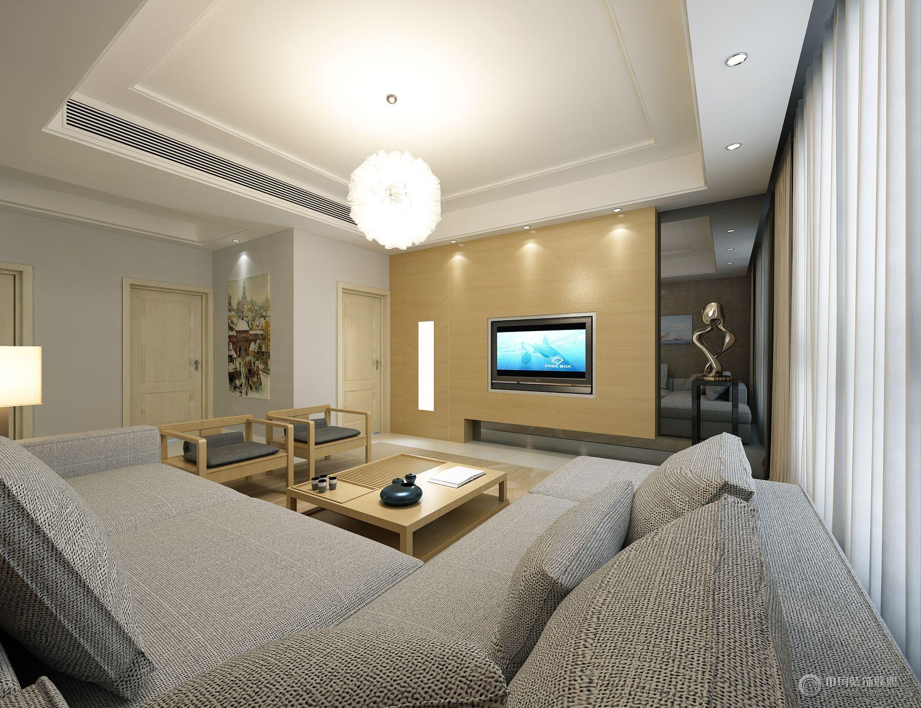 水韻天成現代客廳裝修圖片