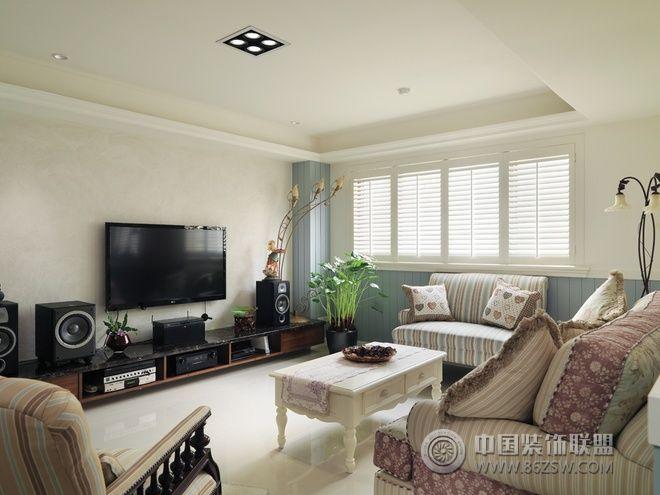 100平英式溫馨雅居混搭客廳裝修圖片