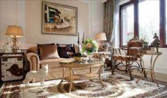 源自于法国香奈儿的设计灵感成都尚层装饰古典风格大户型