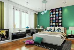 时尚大气的卧室样板间