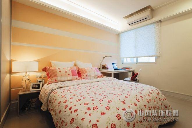 128平北欧田园精品公寓欧式卧室装修图片