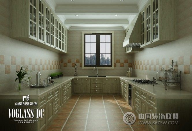 500平米欧式别墅装修案例欧式厨房装修图片