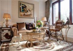 成都尚层装饰别墅装修法式宫廷风格效果图(一)古典客厅装修图片