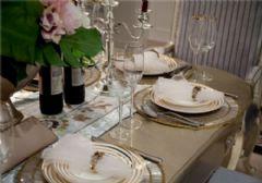 成都尚层装饰别墅装修法式宫廷风格效果图(一)古典餐厅装修图片