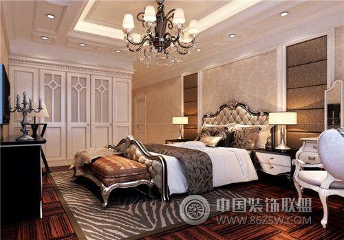 成都尚層裝飾別墅裝修法式宮廷效果圖(二)-臥室裝修圖片