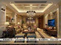 时代尊邸欧式装修设计欧式风格四居室