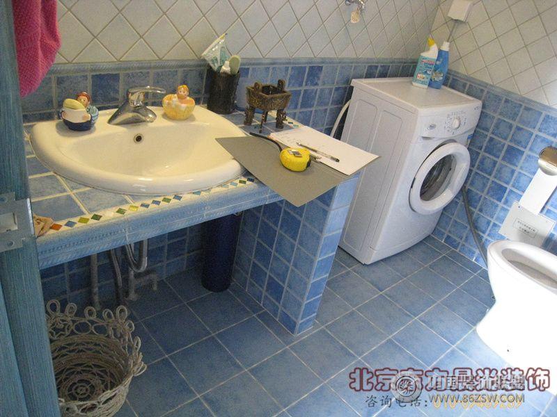 别墅装潢设计中式卫生间装修图片