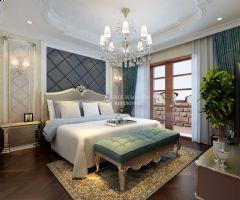 金地紫乐府别墅设计案例-新装饰主义风格中式风格别墅