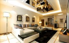 中海金沙府成都尚层装饰现代风格三居室