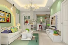 最新韩式客厅装修案例