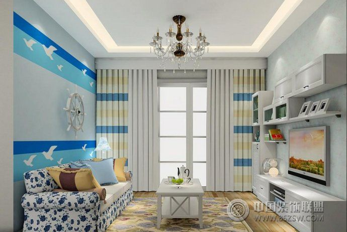 最新韓式客廳裝修案例-客廳裝修圖片
