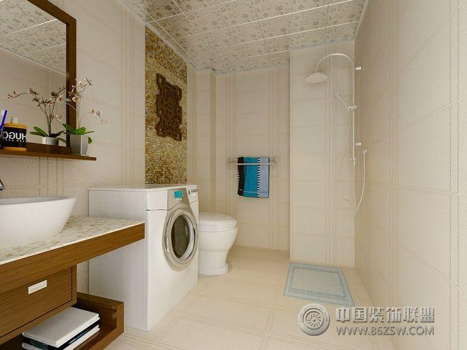 138平现代中式混搭公寓卫生间装修图片