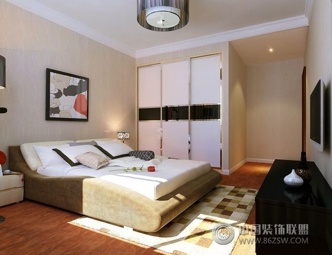 138平现代中式混搭公寓 客厅装修效果图