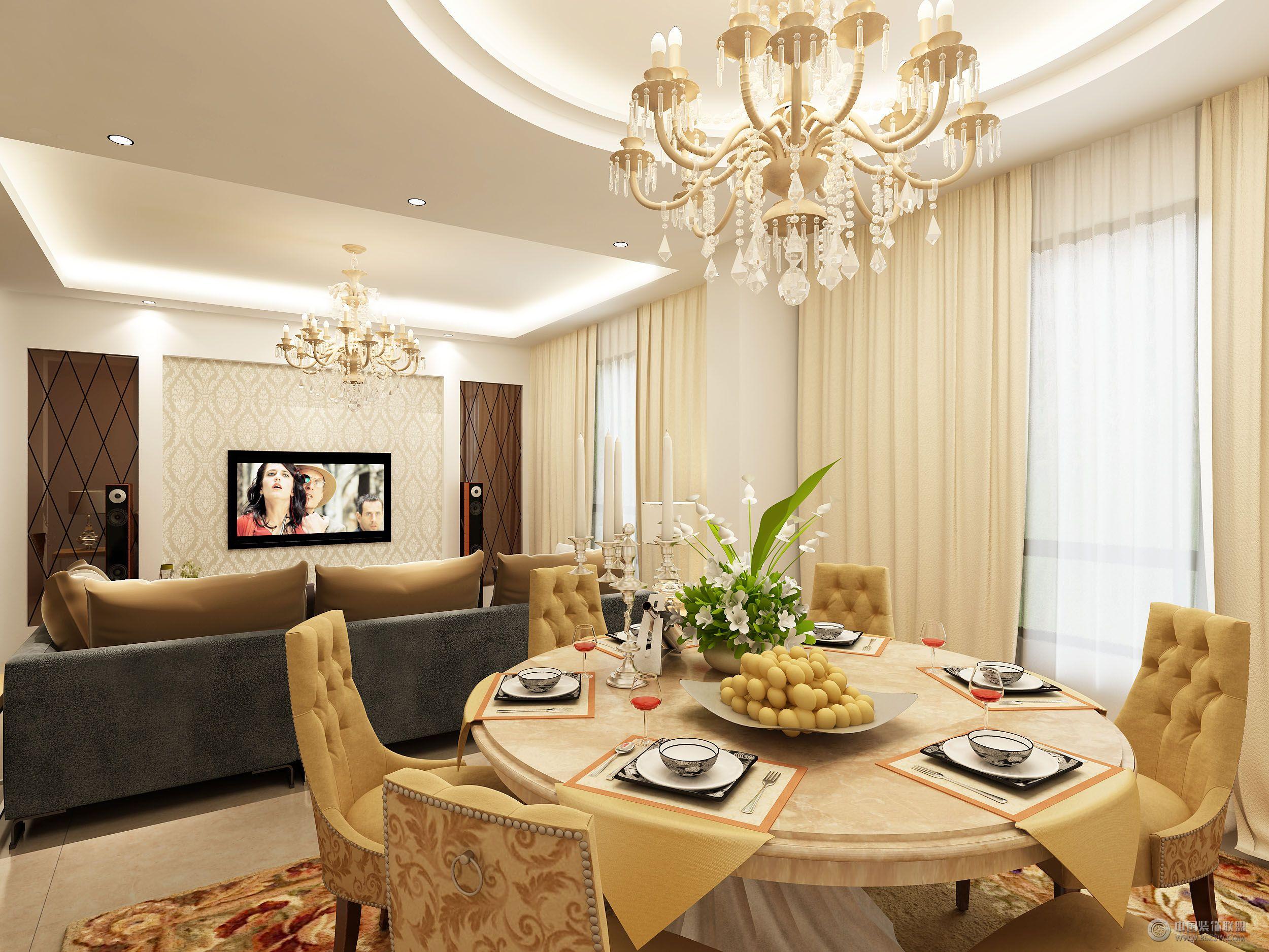 君悦东方欧式客厅装修图片