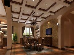 成都别墅装修美式风格案例效果图(二)美式风格别墅