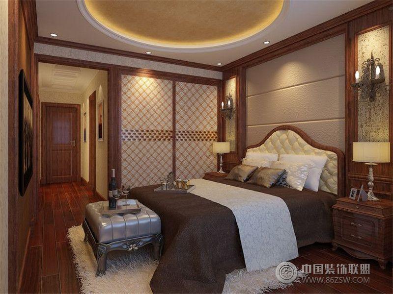 润泽公馆 三居室 105平米 卧室装修设计