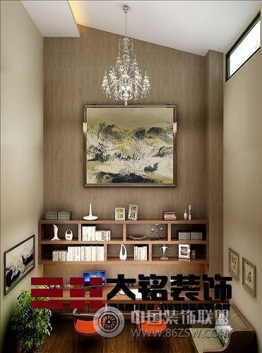 郑州复式楼装修新中式风格设计餐厅装修图片