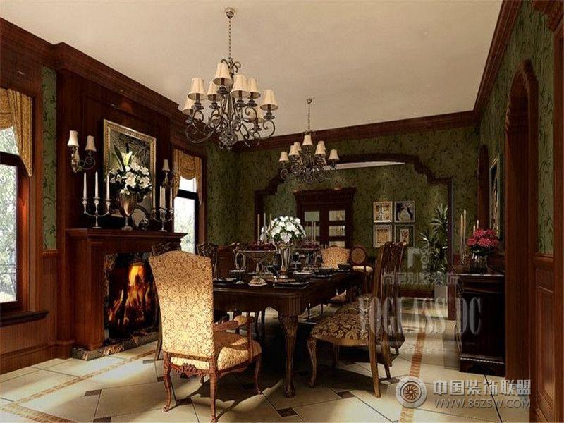 成都尚层装饰别墅装修欧美风格案例效果图六
