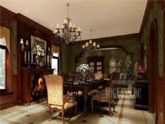 成都尚层装饰别墅装修欧美风格案例效果图(六)美式风格别墅
