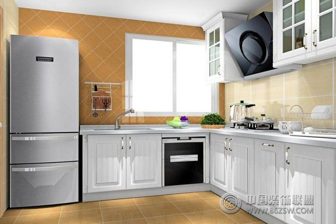 创意设计 厨房 客厅装修效果图 八六装饰网装修效果