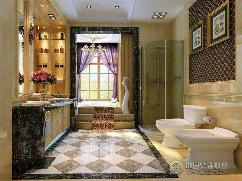 成都尚层装饰别墅装修欧美风格案例效果图十