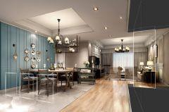 清新美式美式风格二居室