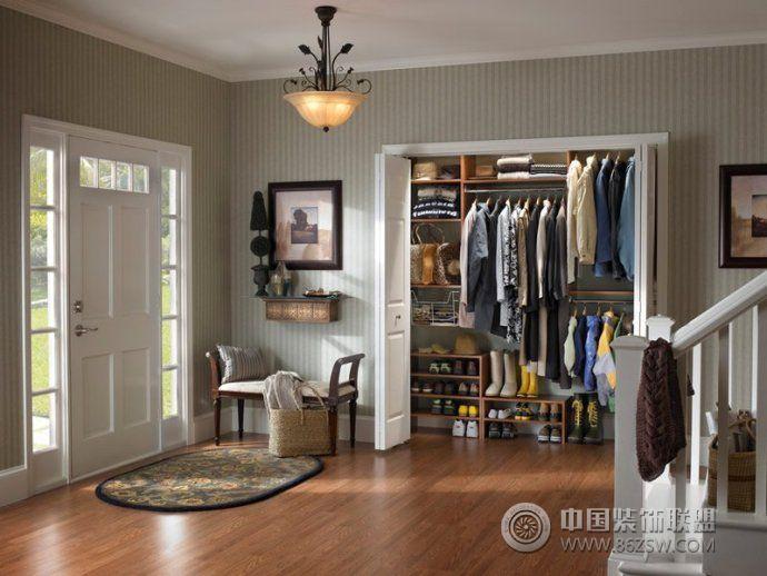 别墅入户玄关装修效果图 瑞好橱柜 板式衣柜 衣帽间柜 鞋柜