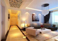 国华印象140平现代简约丨国华印象装修效果图现代简约风格三居室