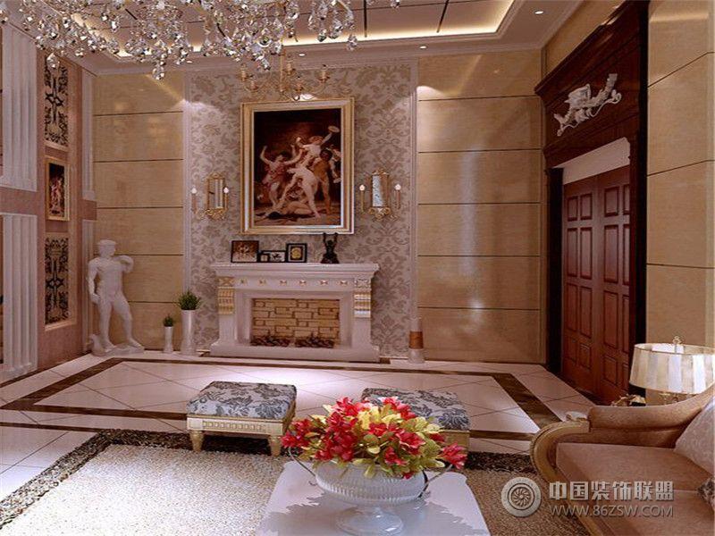 别墅装修欧美风格案例效果图 十六 欧式客厅装修图片