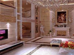 成都尚层装饰别墅装修欧美风格案例效果图(十六)欧式风格别墅