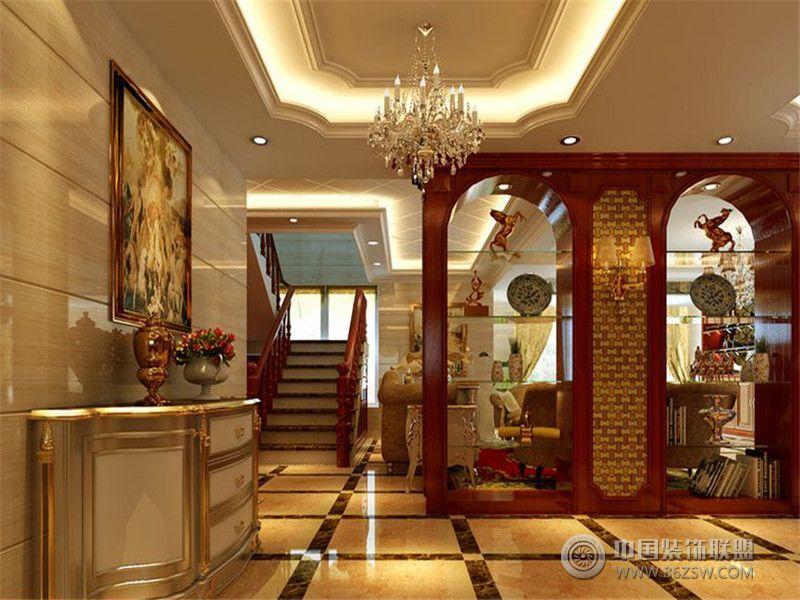 成都尚层装饰别墅装修欧美风格案例欣赏(十七)欧式客厅装修图片