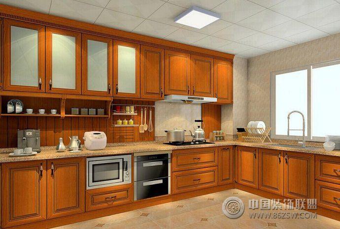 新中式厨房设计方案 餐厅装修效果图 -新中式厨房设计方案 餐厅装修图
