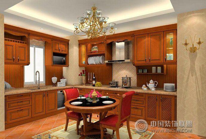新中式厨房设计方案中式风格装修效果图图片