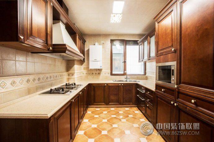 中式廚房設計方案_中式大戶型裝修效果圖