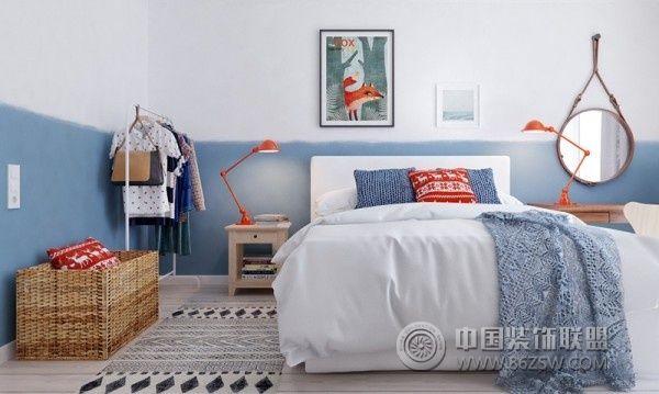 130平簡歐溫馨公寓簡約臥室裝修圖片