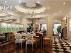 成都尚层装饰别墅装修欧美风格案例效果图(二十)欧式风格别墅