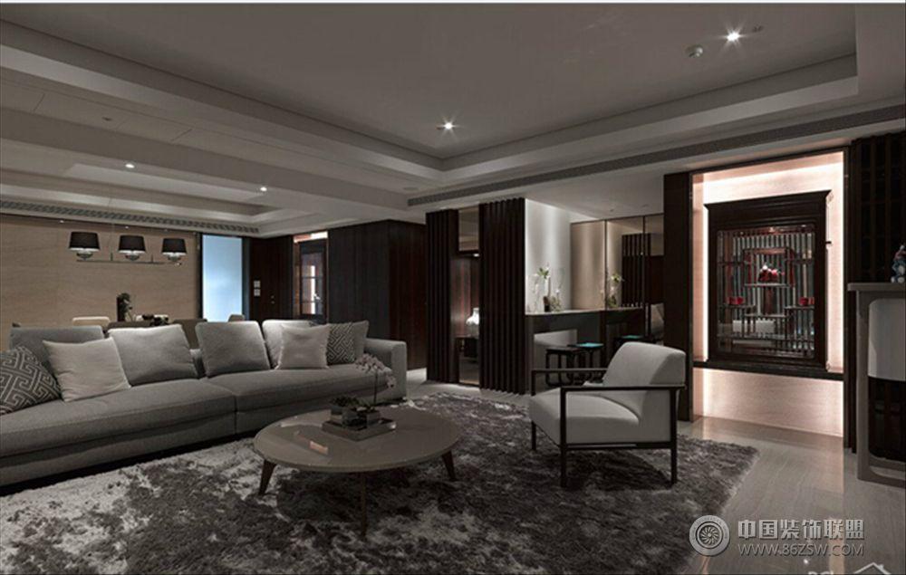 icc灰色空间现代客厅装修图片