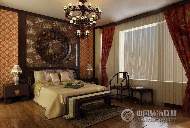 155平新中式温馨美宅-卧室装修图片