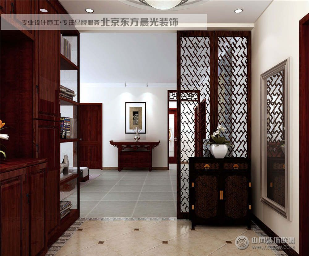 四合院仿古装修古典客厅装修图片