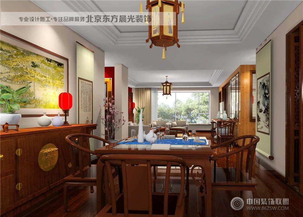 仿古别墅装修设计-餐厅装修效果图-八六(中国)装饰