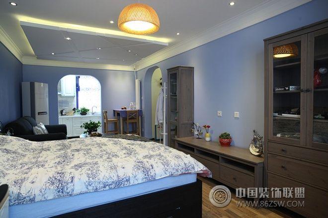 60平地中海温馨公寓-卧室装修图片
