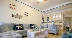 地中海风格海洋地中海风格二居室